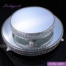 LCK015 popular selling round shape wedding cake stand crystal for decoration