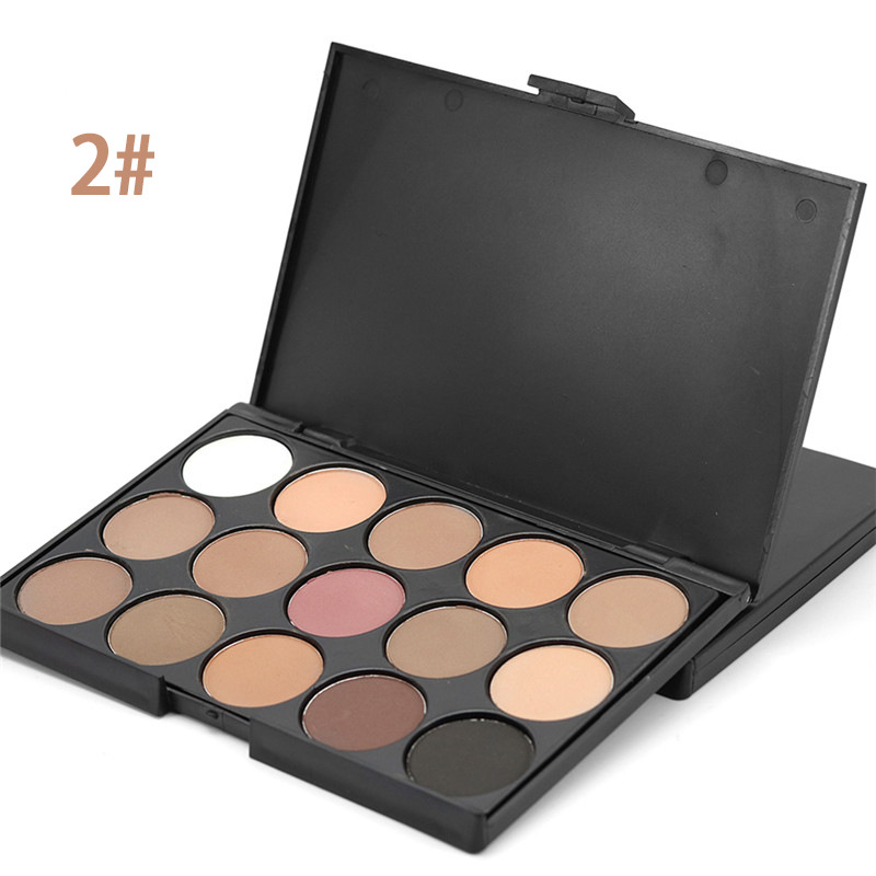OEM Private Label Nama 15 Warna Makeup Palet Bumi Nada Eye Shadow Kualitas Tinggi Eyeshadow
