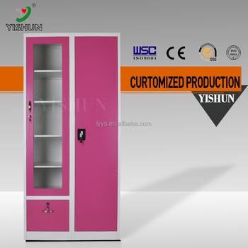 Beau Luoyang Yishun Factory Price Vertical Three Drawer Pink File Cabinet