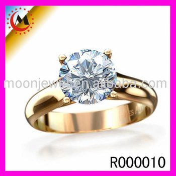 fbef01743 2017 Latest Ladies Finger Gold Plated Design Zircon Engagement Ring ...