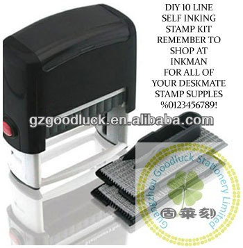Professional typomatic rectangle DIY text stamp