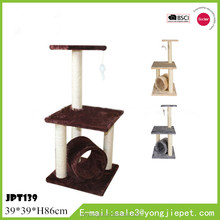 Wholesale Double Layer Cat Trees Cat Tower With Tunnel And Toy Fast Delivery Pet Accessories Cat