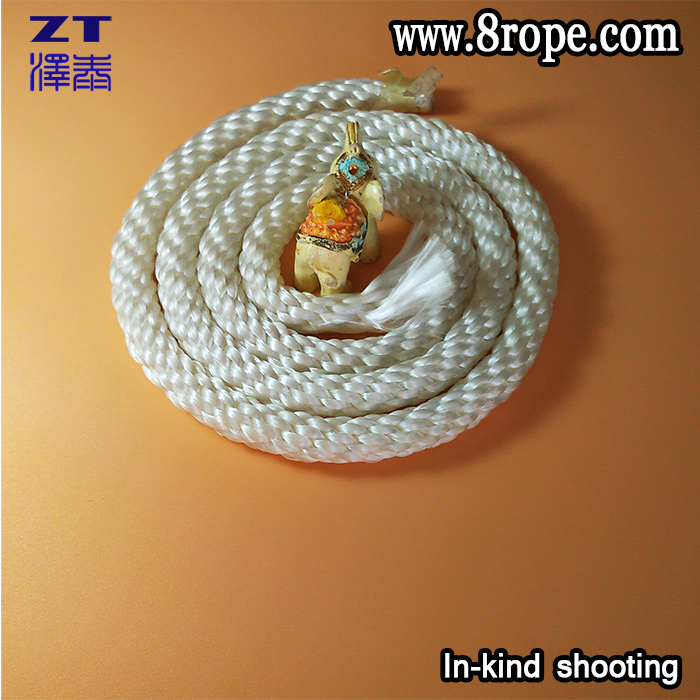 The lowest price of 3/8 inch 10mm 12 strand rope Polypropylene solid braided rope