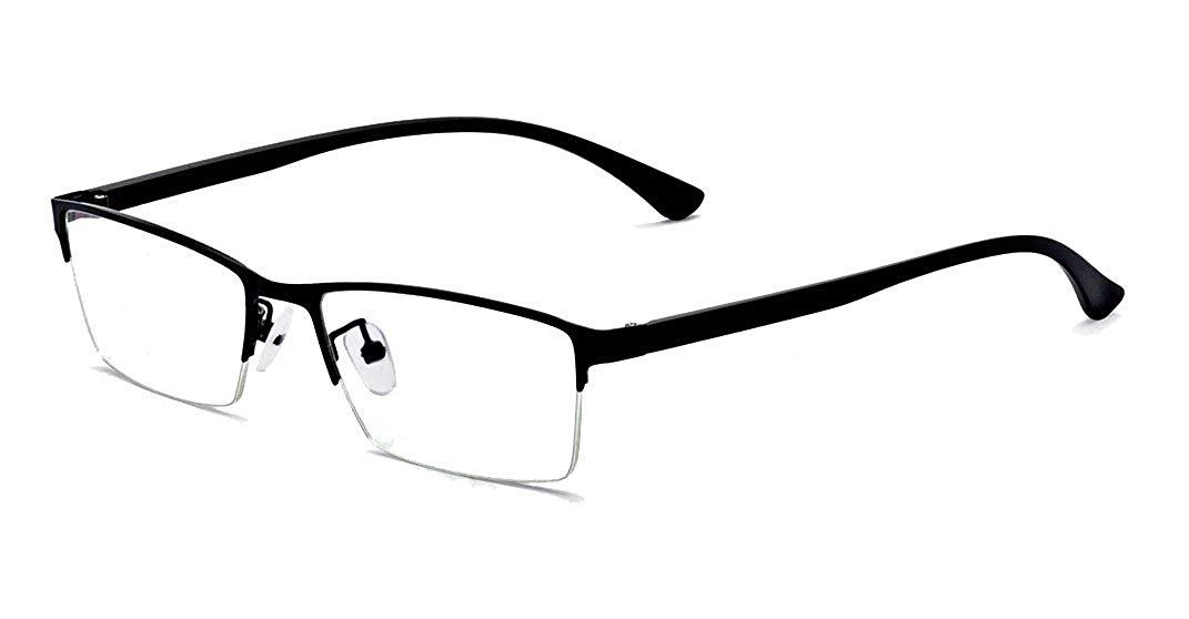 ALWAYSUV Half Frame Clear Lens Business Glasses Prescription Optical Glasses Frame& Reading Glasses