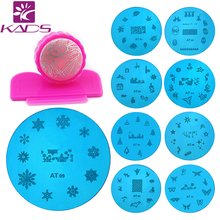 2015 hotsales 13pcs/lot konad stamping nail art  plate Manicure Polish Template Plates + 1 Nail Art Stamping Stamper Scraper Set