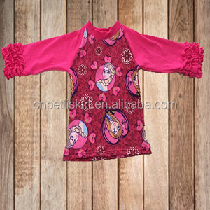 2017 lovely elsa princess printing baby clothes china factory direct sale high quality boutique girl clothing