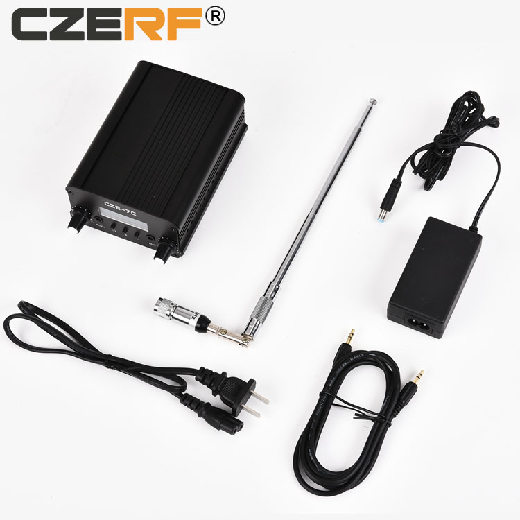 CZE-7C 7 w watt Long Range Wireless FM Trasmettitore Audio Video