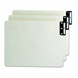 Smead : Green End Tab Guides, Alpha, Vertical Metal Tab, Pressboard, Letter, 25/Set -:- Sold as 2 Packs of - 25 - / - Total of 50 Each