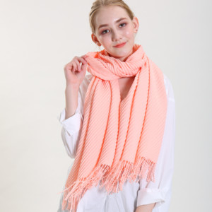 Peach Skin pink color winter thick cashmere scarf and shawls for fashion woman