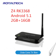 Android Smart Set Top Z4 Octa Core TV Box Internet 4K Full HD OTT TV Receiver 2G RAM + 16GB ROM With Kodi Pre-installed