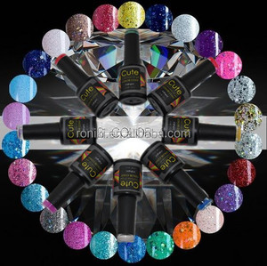 UV Soak off Nail Gel Polish with Customized Bottle Cap Matching Gel Color