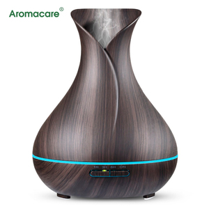 Aromacare Health And Wellness Cordless Aroma Diffuser With Wood Grain Design
