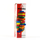 Outdoor building blocks Game Colorful 51 pcs Wooden Tumbling Blocks