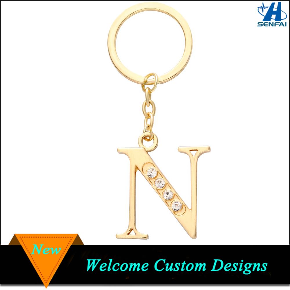 Wholesale Metal Letter N Keychain
