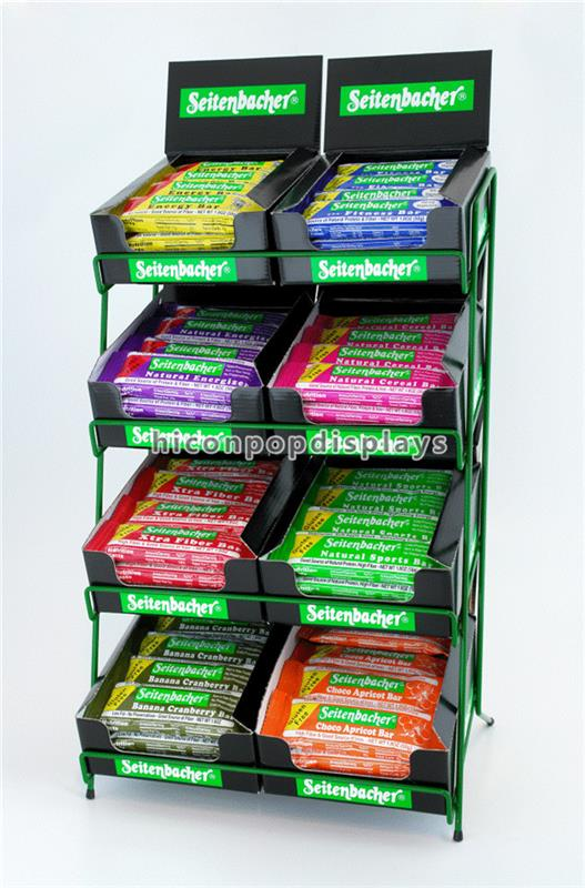 Practical Retail Shops Advertising Counter Top Metal Wire Multi-Shelf Chewing Gum Display Rack