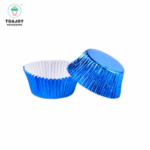 Eco-Friendly baking tools cake decorating standard size blue cupcake liners paper