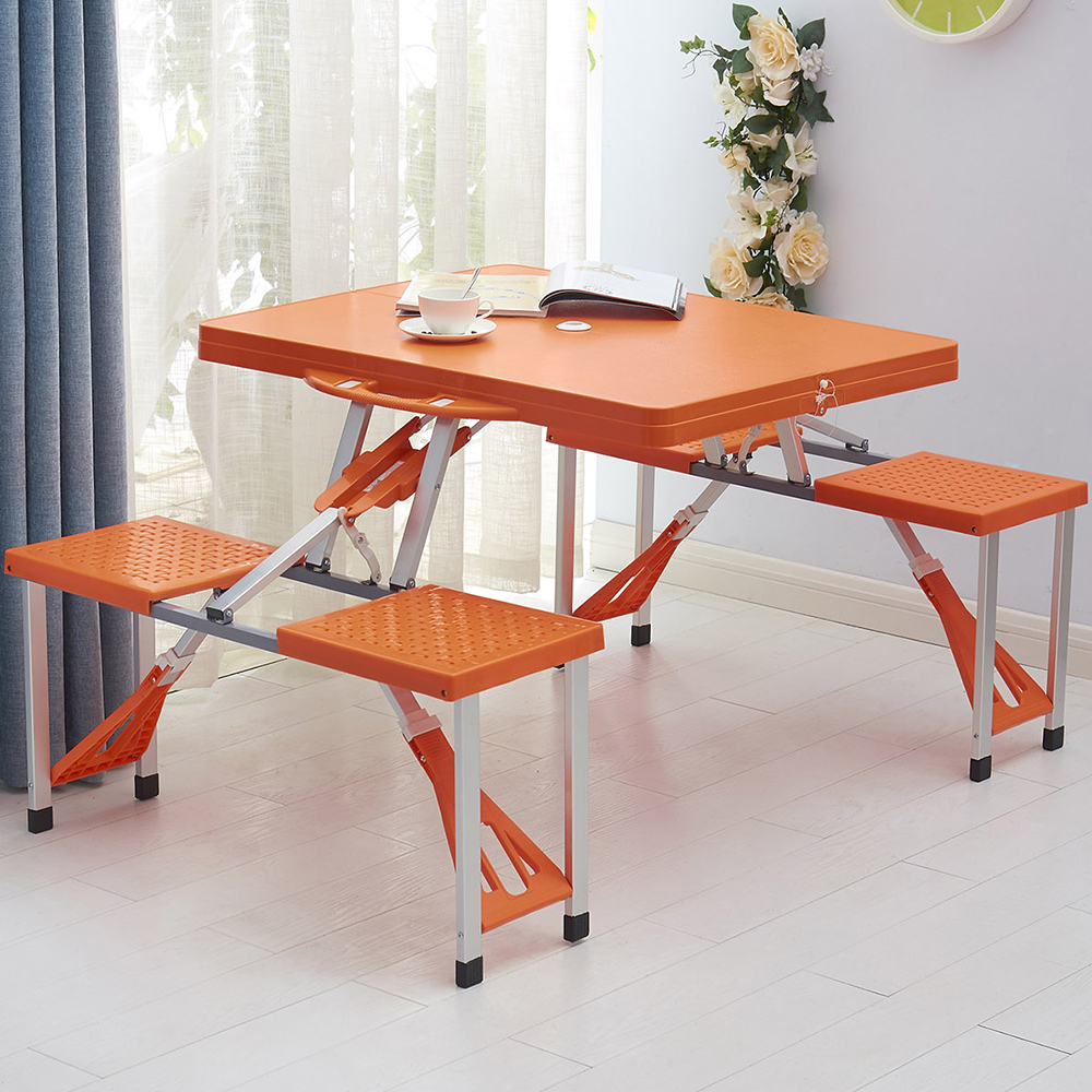 - Outdoor Portable Foldable Folding Picnic Table And Chair Set - Buy