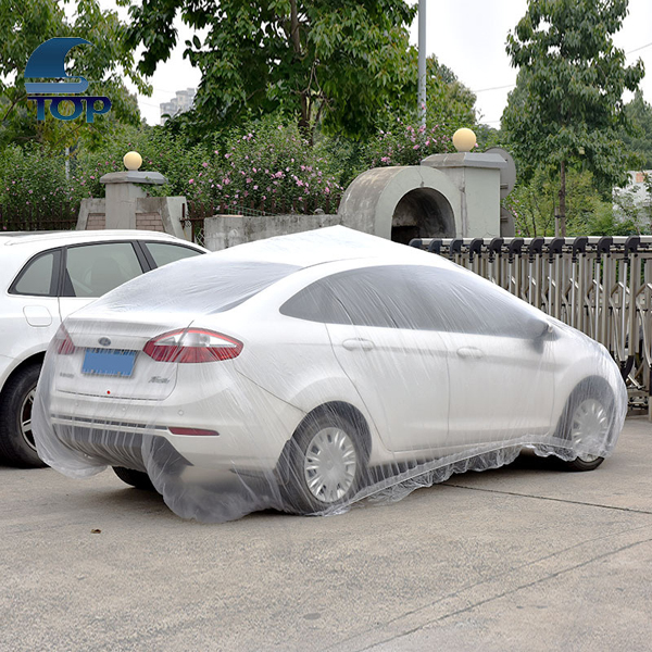 disposable plastic car cover for temporary use