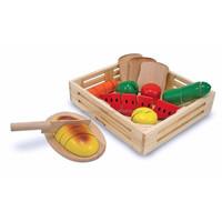 Vegetables Set Wooden toy storage box Food Box Kitchen Educational Toys storage box