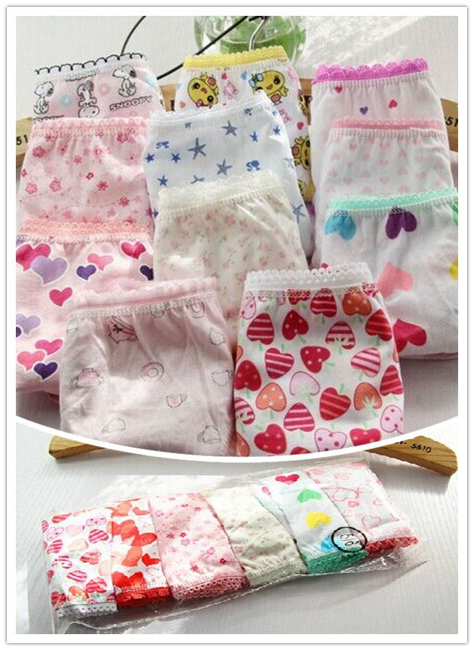 3pcs free shippIng girl Panties baby girl pants underwear shorts kids briefs cotton panties