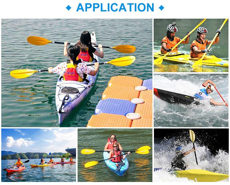 """ขายส่ง 50 """"2 paddles พลาสติกเรือ Oar, พลาสติก kayak paddle เรือสำหรับ inflatable sup"""
