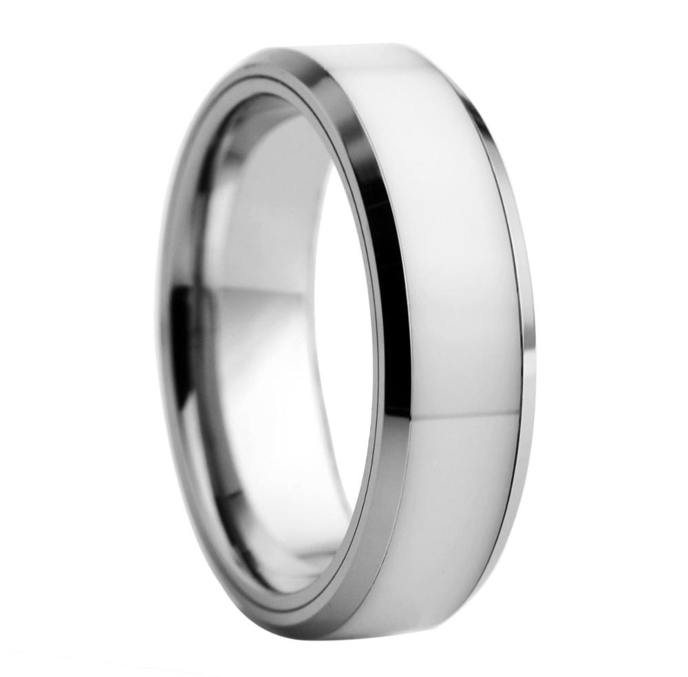 Tungsten Jeweler 7mm Ceramic High Polish Classic Black Domed Wedding Band Ring for Men Or Ladies