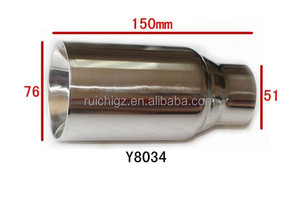 China Manufacturer Double-wall Stainless Steel Muffler Tips Exhaust Muffler Tail Round