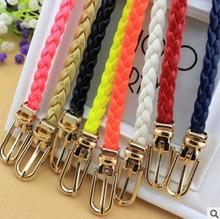 Fashion Women Belt Ladies Faux Leather Metal Buckle Bling Gold Plate Straps Girls Belts Accessories Lady All-Match Waistband agw