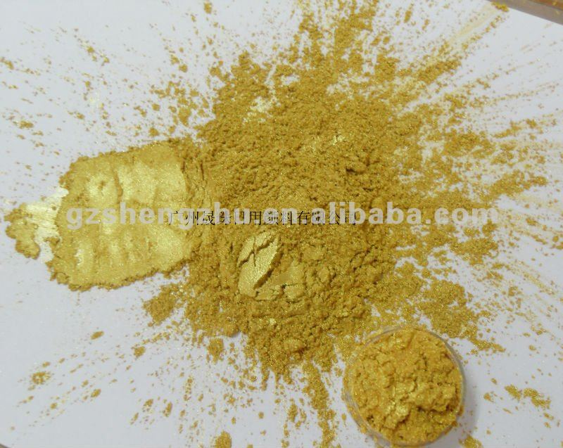 Crystal Gold mirror Pigment Powder for nail Plasitc eye shadow coating