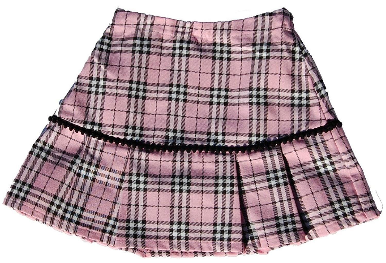 5253b24924 Get Quotations · Cheeky Banana Little Girls Schoolgirl Plaid Pleated Skirt  Size 4 Pink & Black