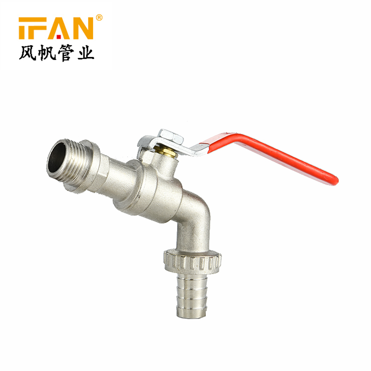 Gold Suppliers Wholesale 1/2 3/4 1inch Water Tap Brass Bibcock Lever Handle Hose Chrome Bibcock