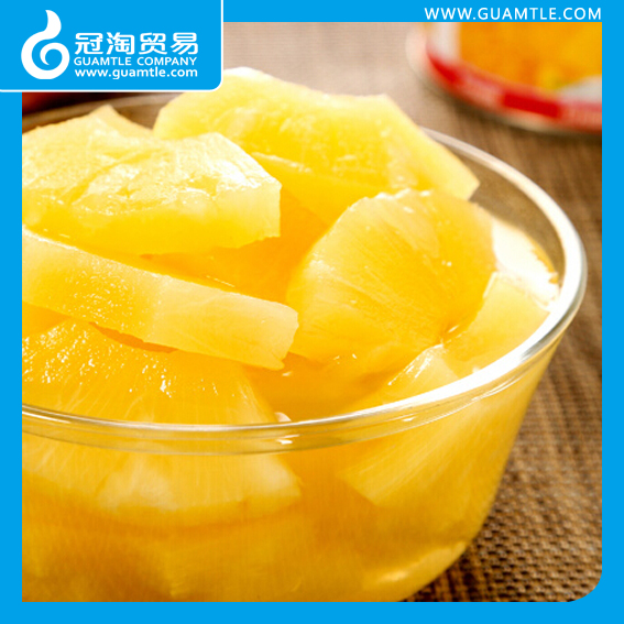 580ml Canned Pineapple Irregular chunks in light syrup in tins (normal lid or easy open lid)