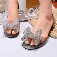 PVC Jelly Shoes Crystal Floewrs Ladies Sandal New Jelly Sandals