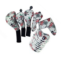 Custom Golf Head Covers for Golf Driver Fairway Wood Hybrid Putter Headcovers