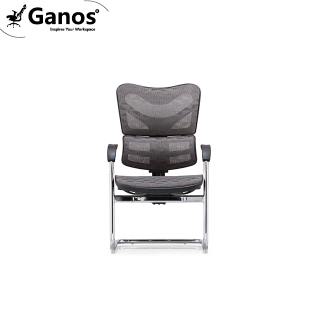 Simple style visiting office chair with lumbar support