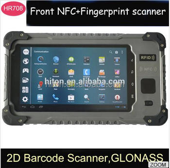 Highton 7 Inch Android Rugged Tablets With Rfid Reader And Front Nfc For Time Attendance