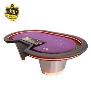 Peachy Baccarat Poker Table With Led Beutiful Home Inspiration Xortanetmahrainfo
