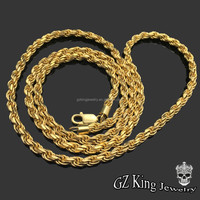Fashion hip hop 14k dubai new gold chain design mens necklace jewelry silver rope chain