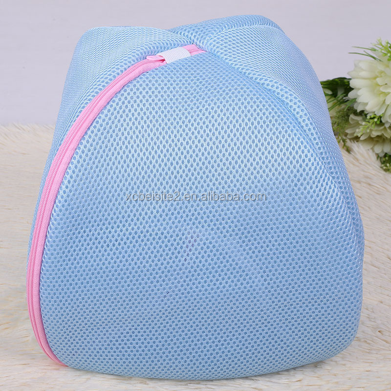 J083 folding hand fashion laundry net bag