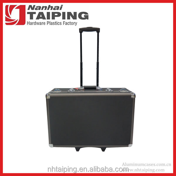Top Quality Aluminum Document Briefcase Case With Trolley Easy For Travel