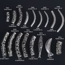 Wholesale fashion sterling silver curved tube beads