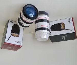 Customized Promotional 16oz Camera Lens Coffee Travel Mugs Cups