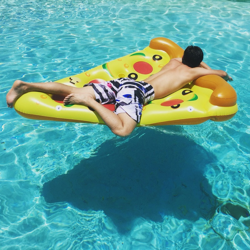 180 cm gigante inflable pizza agua pool flotadores inflables pizza flotadores equipo de juego de - Flotadores gigantes ...