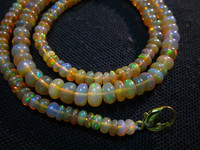 Ethiopian Welo Opal Rondelled Beads, Jaipur Jewelry