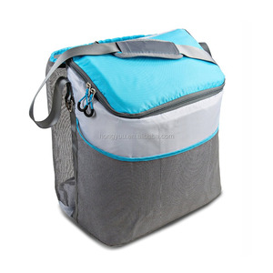 Beach Bag Cooler Tote 24 Can Easy Access Insulated Side Cooler Compartment, Large Drawstring Storage Space, External Mesh Pocket