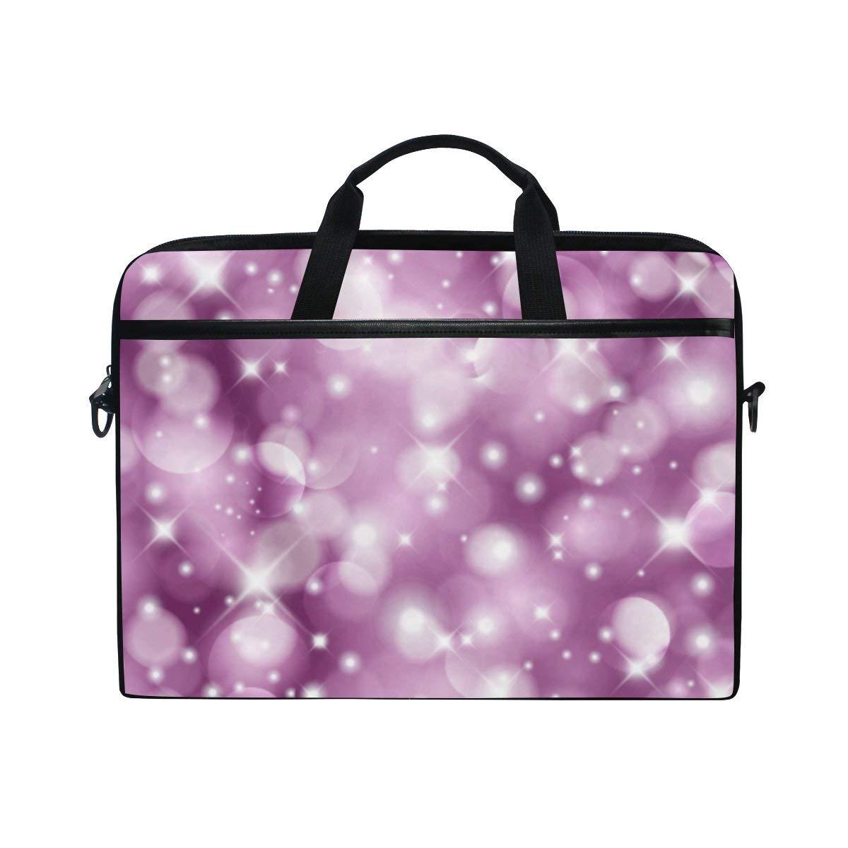 05e72d778f Get Quotations · ALAZA Purple Bling Laptop Bag Briefcase Shoulder Messenger  Bag for Men and Women Fits 15 15.6