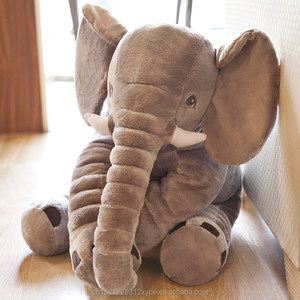 custom sitting elephant made of super soft plush fabric for kids or gifts