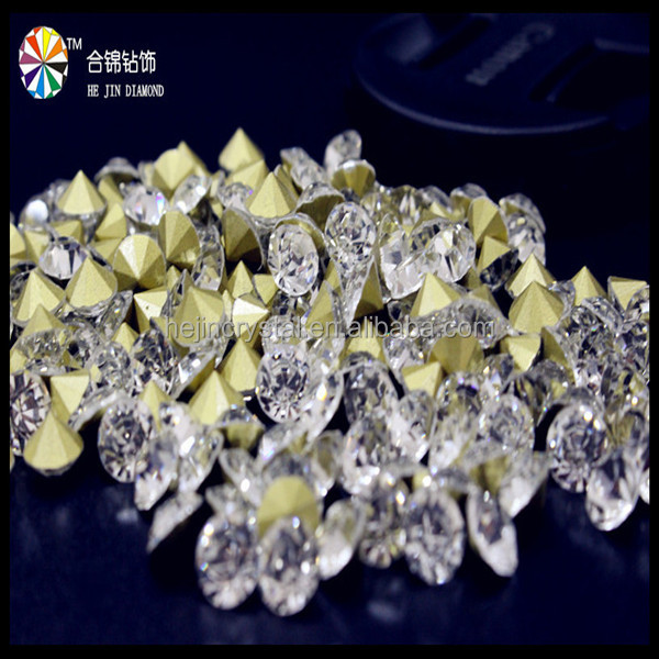 2016 Hot sale white rhinestone crystal as 888 chaton quality for clothing
