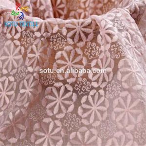 Factoryafrican organza lace fabric embroidery for wedding dress