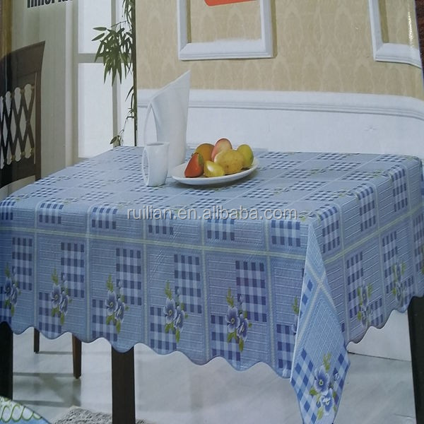 Eco-friendly Printed PVC Tablecloth With Nonwoven/Plastic Table Covers
